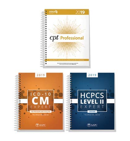 AMA CPT Book, ICD-10 Code Book, HCPCS Book - 2019 Physician Bundle by AAPC ()