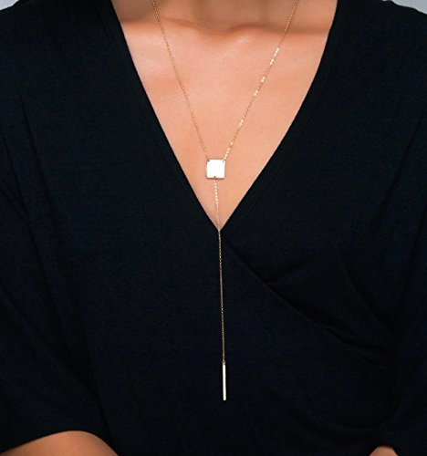 lariat-y-necklace-with-thin-bar-drop-and-personalized-or-blank-square-pendant-with-texture-in-925-st