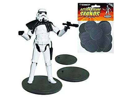 10 x Star Wars Black Series 6 inch Action Figure Stands Multi-peg CLEAR