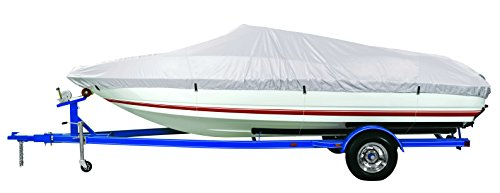 Polyester Reflective Cover Boat - Goodsmann Reflective Polyester Boat Cover A- Fits 14'-16' V-Hull Fishing Boats - Beam Width to 90