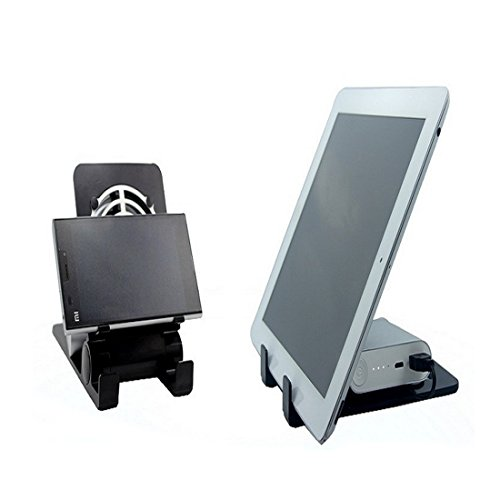 USB Fast Cooling Fan & Heat Sinking Holder Bracket Mount for iPhone/iPad and Other Mobile Devices-Black