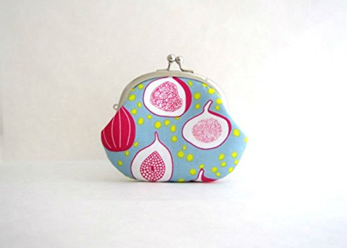 Coin Purse- Change Pouch- Kiss Lock Coin Case- Figs