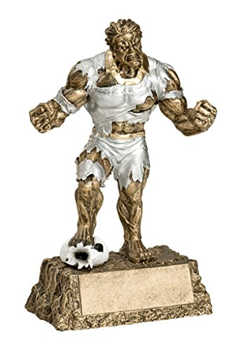 - Decade Awards Soccer Monster Trophy - Triumphant Beast Futbol Award - 6.75 Inch Tall - Engraved Plate on Request