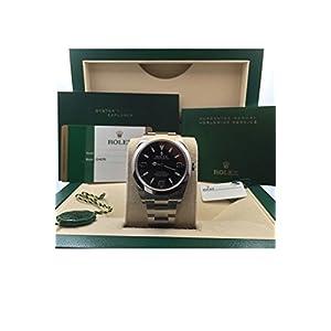 Rolex Explorer 1 Black Dial Steel Mens Watch 214270