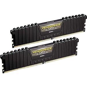 Corsair Vengeance LPX 16GB (2x8GB) DDR4 DRAM 3000MHz C15 Desktop Memory Kit - Black (CMK16GX4M2B3000C15) XMP 2.0