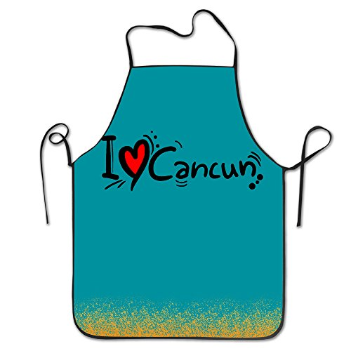 Funny Apron Chef Kitchen Cooking Apron Bib I Love Cancun Cooking Easy Care - Lucy Love Chefs Hat I