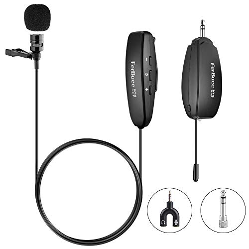 - Wireless Lapel Microphone FerBuee Lavalier Microphone 150ft Stable Wireless Transmission Voice Recording for Phones, Cameras, Voice Amplifier for Speakers