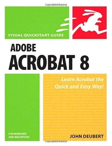 adobe acrobat 8 for windows and macintosh john deubert rh amazon com Adobe Acrobat Standard Adobe Acrobat X Pro