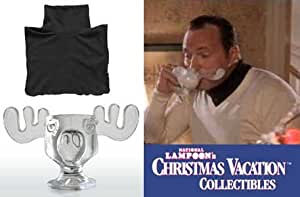 National Lampoons Christmas Vacation Officially Licensed Glass Moose Mug AND Cousin Eddie Dickie
