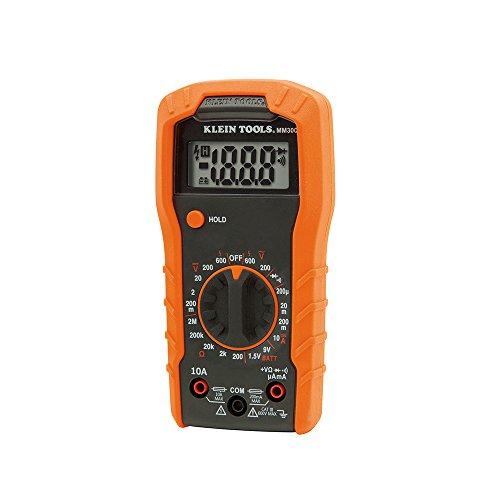 Digital Multimeter, Manual-Ranging, 600V Klein Tools MM300 from Klein Tools