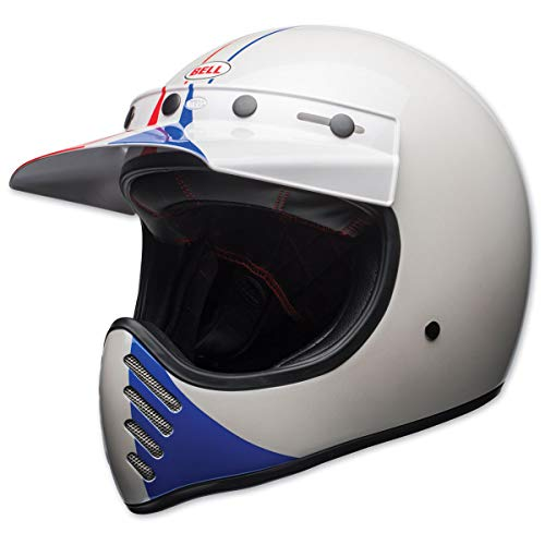 Bell Moto-3 Off-Road Motorcycle Helmet (Ace Cafe GP 66 Gloss White/Red, Medium)