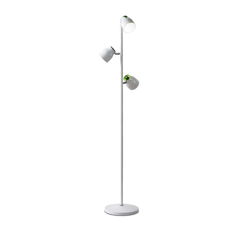 携帯用ランプ インテリジェントリモートコントロール付きフロアランプ、錬鉄、寝室用リビングルーム学生読書ランプ縦型テーブルランプ B07P8ZLLCT