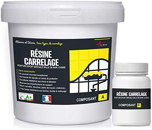 peinture pour carrelage cuisine salle de bain résine rénovation meuble -  RAL 7001 Gris - Kit 2.5 Kg jusqu\'à 25 m² pour 2 couches - ARCANE INDUSTRIES