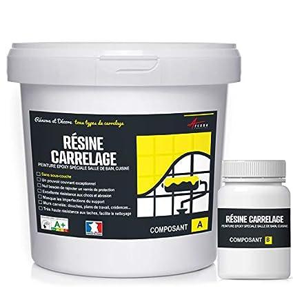Peinture Pour Carrelage Cuisine Salle De Bain Resine Renovation Meuble Ral 9003 Blanc Kit 1kg Jusqu A 10 M Pour 2 Couches Arcane Industries