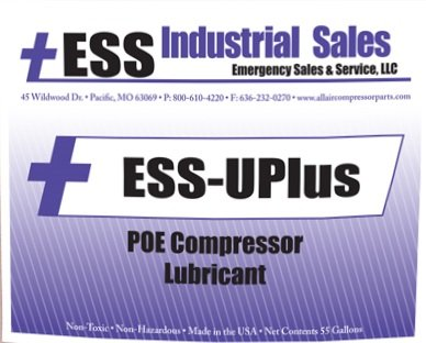 ESS-UPLUS, Complube 10, POE Based Air Compressor Lubricant, (REPLACEMENT), 5 Gallon pail by ESS Industrial