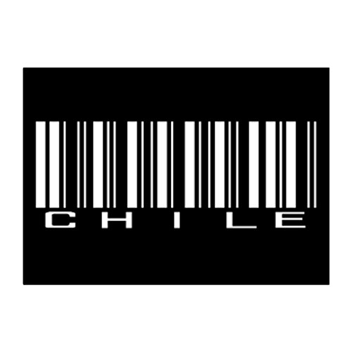 Teeburon Chile BARCODE Pack of 4 Stickers