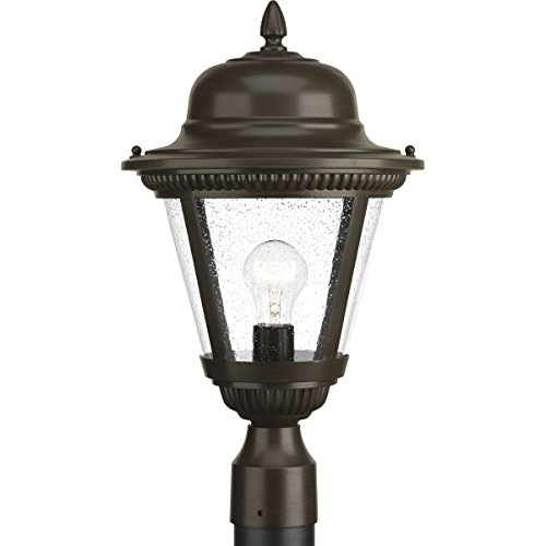 - Progress Lighting P5458-20 Westport Antique Bronze One-Light Post Lantern,