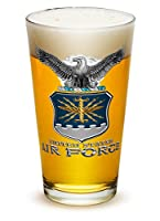 Pint Glasses – USAF American Hero's Gifts for Men or Women – Air Force USAF Missle Beer Glassware – Armed Forces Beer Glass with Logo (16 Oz)