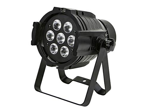 (Monoprice PAR-575 Stage Light (RGBW) | Bright, 8 watt, x 7 LED, aluminum shell, built-in programs for dimming and strobe effect - Stage Right Series)