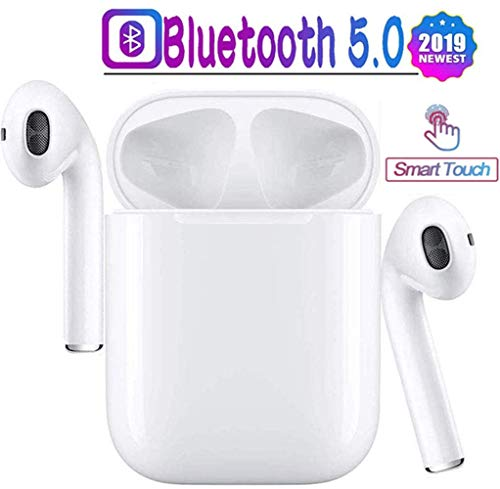 Bluetooth 5.0 Wireless Earbuds Noise Canceling Sports Headphones with Charging Case IPX5 Waterproof Stereo Earphones in-Ear Built-in HD Mic Headsets for iPhone Android Apple Airpods Pro
