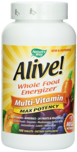 Way Alive Nature! Max puissant de multivitamines, comprimés 180