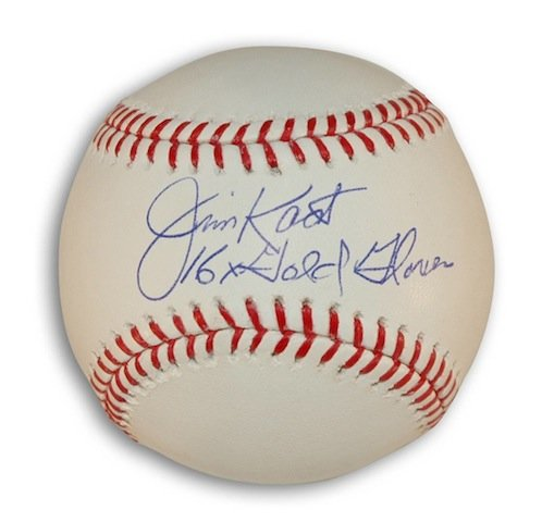 Inscribed Gold Glove (Autographed Jim Kaat MLB Baseball Inscribed