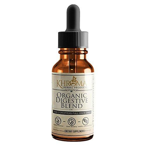 Khroma Organic Digestive Blend - 2 oz Liquid Dietary Supplement - 30 Servings in a Glass Bottle