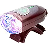 C3Sports 879001 Police Bike Light Wig-Wag Flash Mini Pursuit Daylight Visible, Red/Blue