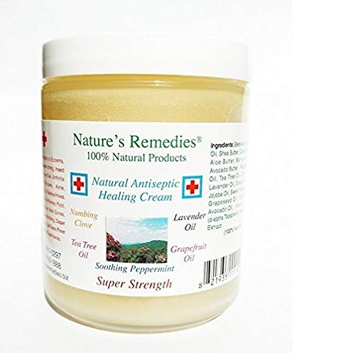 100% Natural Antiseptic Healing Cream: Soothing Treatment for Ulcers, Neuropathy, Infected Skin, Bed Sores, Dry Cracked Skin, Insect Bites, Poison Ivy, Itchy Scalp, Eczema, Psoriasis, Burns 1 oz