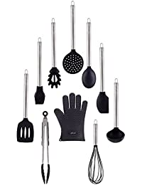 Purchase 10 Piece Silicone Cooking Utensils Set with Stainless Steel handles By Chef Essential discount