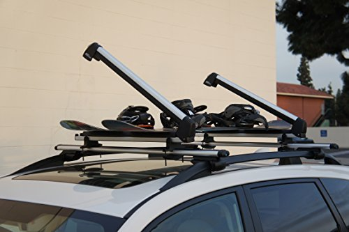 Ace-Trades Car Roof Ski Rack-4 Pair Skis or 2 Snowboards