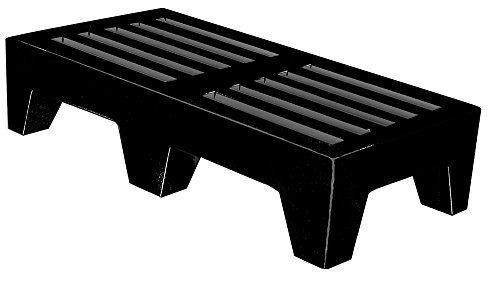 Winholt DPLSQ-4-1222-BK Dunnage Rack, Plastic, 22