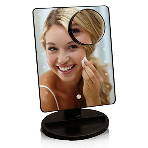 blowout-1599-lighted-makeup-mirror-w-10x-magnifying-circle-dimmable-led-lights-touchscreen-cordless-