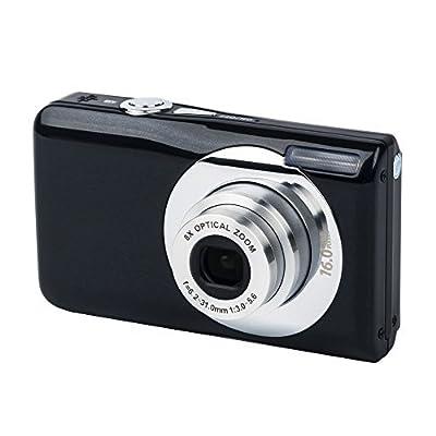 YSANY K11 2.7 Inch TFT 5X Optical Zoom 16MP 1280x720 HD camcoder Digital Video Camera--Black by YSANY