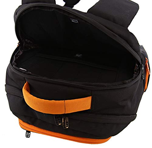 690534a17141 6 Pack Fitness Expedition Backpack W Removable Meal Management System 300  Black Neon Orange