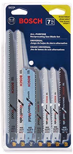 Bosch RAP7PK 7-Piece Reciprocating Saw Blade Set