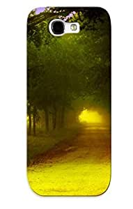 BITNctn5017lxZFU Case Cover Nature Landscapes Roads Trees Forest Compatible With Galaxy Note 2 Protective Case