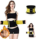 Jueachy Waist Trainer Belt for Women, Breathable Sweat Belt Waist Cincher Trimmer Body Shaper Girdle Fat Burn Belly Slimming Band for Weight Loss Fitness Workout