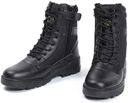 アサルトブーツは、Cortex暖かいハイヘルプレースアップスタイルの登山靴快適なクッション滑り止め耐摩耗ラバーソールをキープ (色 : 黒, サイズ : 27 CM)