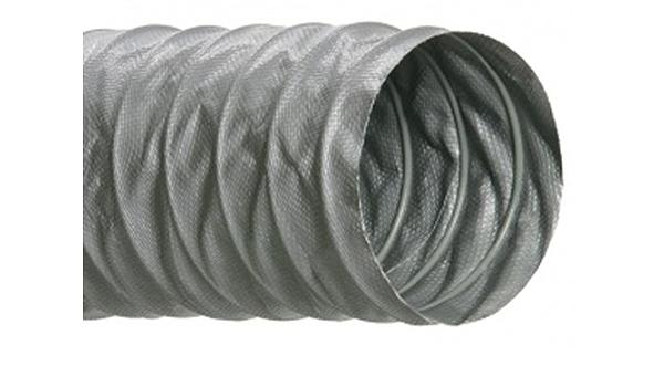 Grey Hi-Tech Duravent Flexflyte VF Series PVC//Fiberglass Duct Hose 12 ID 25 Length 12-11//32 OD