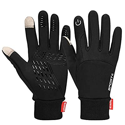 Cevapro Winter Warm Gloves, Touchscreen Gloves Cold Weather Cycling Gloves Windproof Winter Sports Gloves for Running, Biking, Driving, Climbing, Hiking - Men & Women