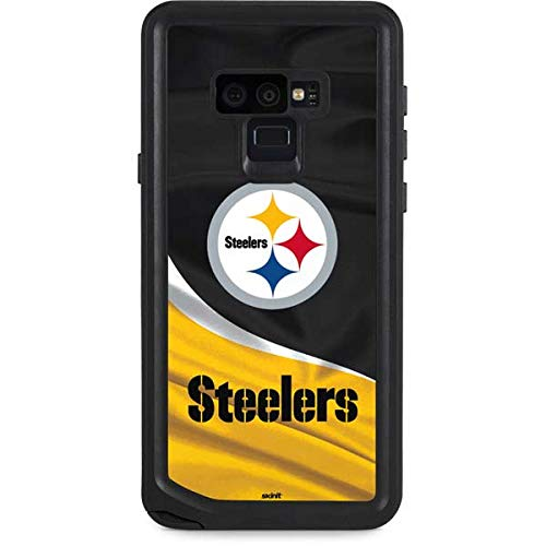 (Skinit NFL Pittsburgh Steelers Galaxy Note 9 Waterproof Case - Pittsburgh Steelers Design - Sweat-Proof, Snow-Proof, Dirt-Proof, Dust-Proof Phone Cover)
