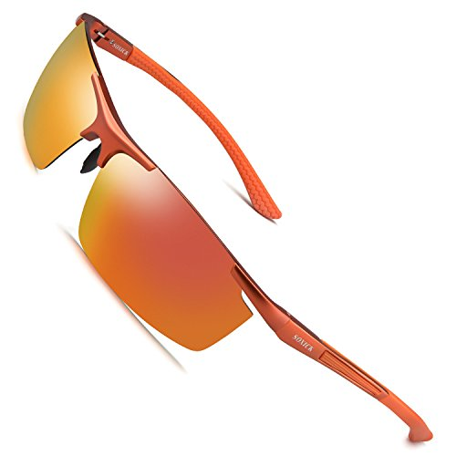 (Soxick Men's Polarized Sunglasses UV400 Retro Unbreakable Metal Driving Sunglasses)