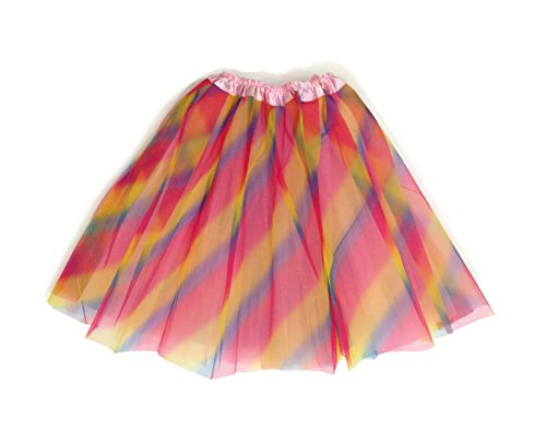 Mens Pink Tutu Adult Costumes (Rush Dance Womens Costume Ballet Warrior Dash Run Tutu (Adult, Pink Rainbow))