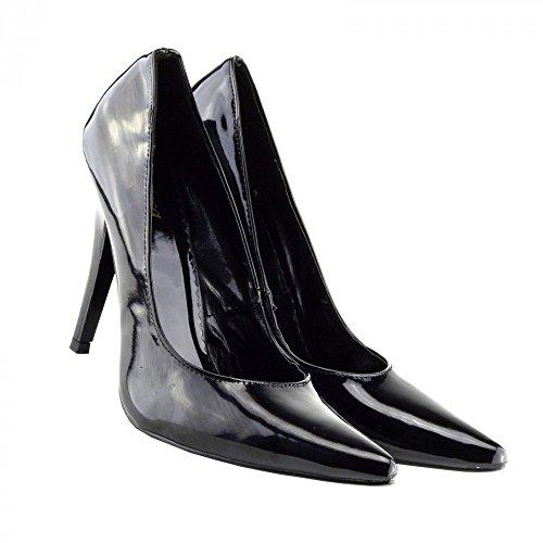 Buckles Shoes Damen Pumps schwarzer lack