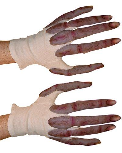 (Zagone Alien Gloves, Long Fingers, Short Tan Cotton)
