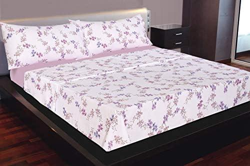 Montse Interiors Juego de sábanas Flores Lila Algodón 100% (DILAILA, para Cama de 90x190/200): Amazon.es: Hogar