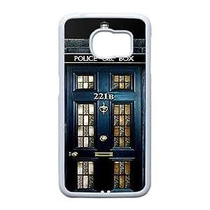 Samsung Galaxy S6 Edge case (TPU), sherlock tardis Cell phone case White for Samsung Galaxy S6 Edge - FGHJ8963179
