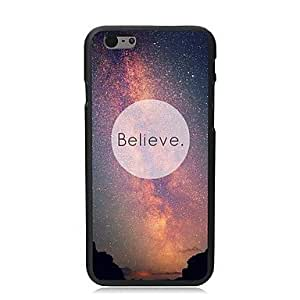 QJM Believe Design PC Hard Case for iPhone 6