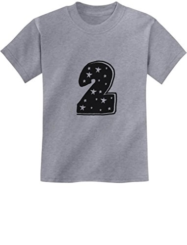 TeeStars - Two Years Old Cute Birthday Gift Idea - I'm 2 Superstar Kids T-Shirt 3T Gray ()